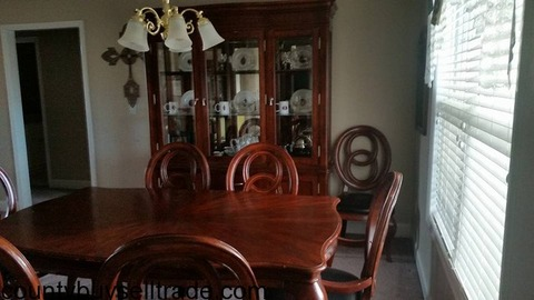 Cherry Diningroom Table and China Cabinet